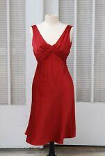 Red Satin Dress 36 6 Donna Morgan Silk Polyester Sleeveless