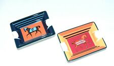 Hermes Couvertures Nouvelles Set di 2 Mini Posacenere Cavallo Cambio Vassoio