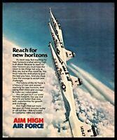 1986 NORTHROP T-38 Talon Supersonic Jet U.S. Air Force USAF Recruiting AD