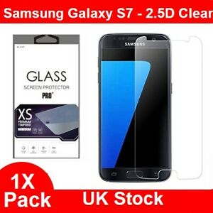 For Samsung Galaxy S7 Glass Screen Protector - 100% Genuine Tempered 1 Pack