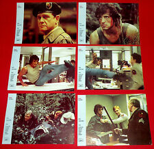 RAMBO FIRST BLOOD 1982  SYLVESTER STALLONE UNIQUE RARE EXYU LOBBY CARDS SET