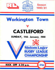 11/01/1981 Rugby League Programme: Workington Town v Castleford (the programme a