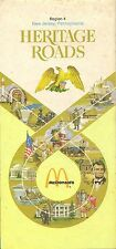 1974 MCDONALD'S Restaurant Locator Road Map NEW JERSEY PENNSYLVANIA Philadelphia