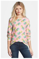 """WILDFOX couture WOMEN'S """"PINEAPPLE PALACE"""" PINK CASUAL SWEATSHIRT pullover t"""