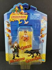 Chicken Run Guard Dog, Mr. Tweedy and Ginger 2000 Playmates 3 Figure Set Toy New