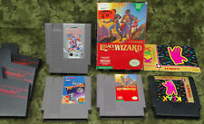 Nintendo NES Game Lot of 4 Klax Devious Blades of Steel Legacy Of The Wizard LOT