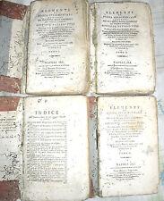 G. Saverio Poli ELEMENTI DI FISICA SPERIMENTALE 4 tomi stampato in Napoli 1808