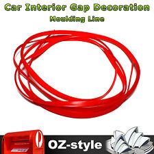 Red Gap Trim Decoration Automotic Dashboard Console Edging Guard Line 6mm x 30M