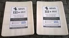 Level 3+ Dyneema bulletproof armour 2x side plates AK47 & 7.62 NATO 6x8 inch set