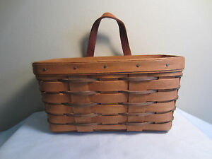 Vintage 1990 Longaberger Heartland Collection Hanging Key Basket with Handle