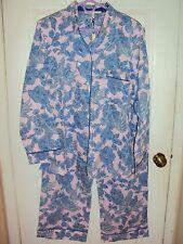 Victoria's Secret Pajama 2pc Set Floral Prints Cotton Blend SZ LG--NWT $54.50