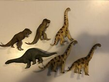 Lot of 6 Schleich Toy Dinosaurs w/ Brachiosaurus, T-Rex