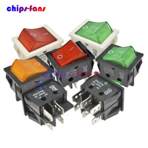 1/5/10PCS 30A 250V KCD4 Rocker Boat Switch 4/6Pins DPST/DPDT Terminals ON/OFF