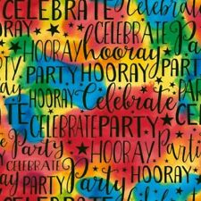 Timeless Treasures Birthday Party C5887 MLT Multi Words   Cotton Fabric