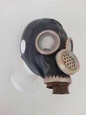 Gasmaske PMG 2 gas mask  DDR UDSSR  NVA Russisch Gr 3Y Large ohne Ohren schwarz