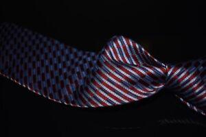LNWOT Ermenegildo Zegna Woven Selvedge Silk Mix Red Anthracite Dash Stripe Tie