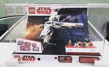 STAR WARS LEGO X WING FIGHTER 75218 STORE DISPLAY CASE W/ LIGHTS & MINIFIGS!