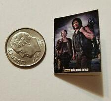 Miniature dollhouse book 1/12 Walking Dead Comic Book Tv show Darryl Carol
