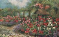 Early 1900's TUCKS Oilette ROSES ALL in a GARDEN FAIR Postcard - VERY GOOD USED