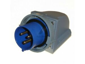 32 Amp Appliance Socket Inlet IP67 Waterproof 3 Pin 2P+E 230v 32A Blue Outdoor