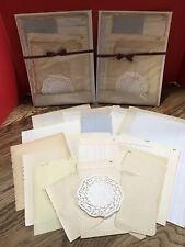 Vintage ,22 Page Lot Un-used Paper, Crafting, Altered Books, Collage, Art, Etc.