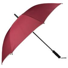 Wine Heavy Duty Compact Travel  Windproof  Auto Open UV Protect Long Umbrella