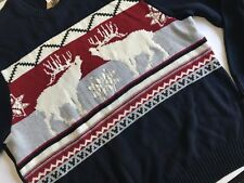 Dockers Holiday Sweater XL Mens Reindeer Snowflake Christmas Pullover Novelty