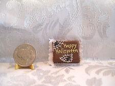 MINIATURE DOLLHOUSE HANDCRAFTED FOOD HALLOWEEN CAKE