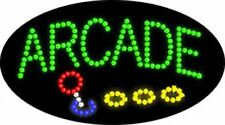 "OPEN LED SIGN ""ARCADE"" OPEN GAMES 21""x12"" Prizes Business Animated bright Flash"