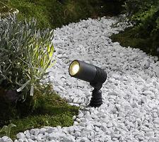 Lámpara de jardín emisor 12 voltios Alder 3er juego completo plástico mt LED