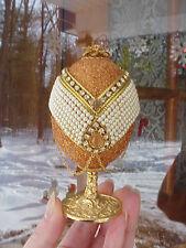 REAL Decorated Carved Goose Egg Trinket/Keepsake Box Wedding/Engagement Ring