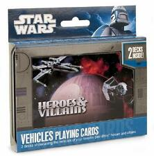 Star Wars ~ Heroes & Villains Vehicles ~ Playing Cards ~ Collectible Tin ~ New