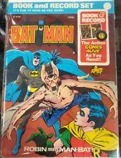 1976 Batman Book & Record Set Robin Meets Man-bat PR #30 45 RPM VG/VG