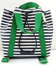New Tommy Hilfiger Blue/Green Striped Backpack Retail: $109