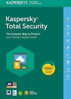 Kaspersky Total Security 2019   1 Device   1year   PC/Mac/Android   DOWNLOAD