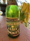 Vintage Green River Lime Rickey 24 Fluid oz. Gold Foil Bottle Prohibition