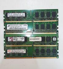4Gb (4x1Gb) MEMORIA RAM DDR2 DIMM ORDENADOR PC INTEL y AMD 667Mhz 800Mhz 240pinS