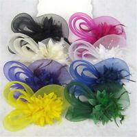 Fascinator Elegant Wedding Hat Festival Headwear Hair Clip Bridal Headband