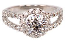 2,25 Carat Solide Echt 585er Weiß Gold Runden Form Solitär Hochzeits Ring
