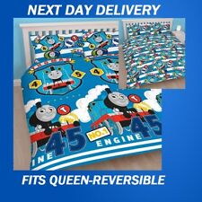 THOMAS THE TANK ENGINE AND FRIENDS FITS QUEEN  DOONA DUVET QUILT COVER SET KIDS