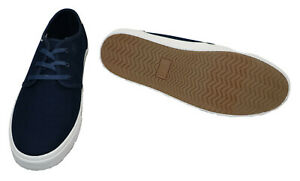 TOMS Carlo Men's Canvas Sneakers 10.5 Navy Heritage - Store Display w/Box