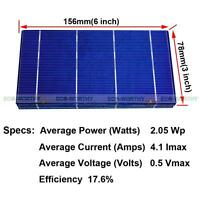"ECO Solar Cell 6x6"" 3x6"" 78x26mm 52x39mm Cells Small size 20 40 80 108pcs DIY"
