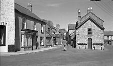 B/W Negative Bampton Devon Shops 1949 +INC© DB1082