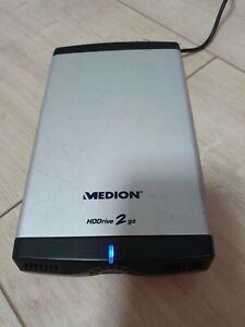 Externe Festplatte, MEDION HDDrive 2 go, 250GB im Alugehäuse