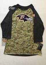 Nike 2017 NFL Salute to Service Baltimore Ravens Sideline 3/4 T-Shirt STS Men XL