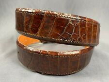 "Genuine BROWN Alligator-Crocodile skin Waist 33-34 Belt Size 35-36 x 1.50"" wide"