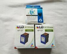 HP 57 Re-manufactured Cartridges, 2 Color and 1 Black
