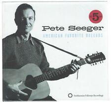 5-CD: PETE SEEGER - American Favorite Ballads  (NEW)