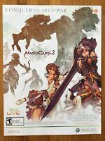 Magna Carta II 2 Xbox 360 2009 Vintage Poster Ad Advert Art Promo Print RPG Rare