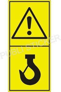 2 PITTOGRAMMI ADESIVI ISO 11684  SEGNALE SICUREZZA MACCHINE AGRICOLE E FORESTALI